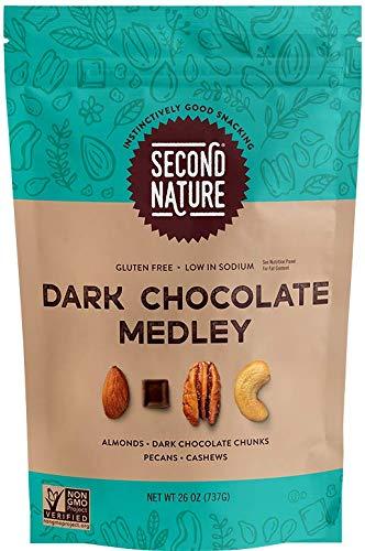 Second Nature Dark Chocolate, Snack Nut Blend, Dark Chocolate Medley Mix, 1.62 Pound