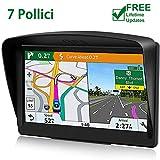 POMILE Navigatore Satellitare Auto, 7 pollici GPS per Auto Aggiornamento gratuito...