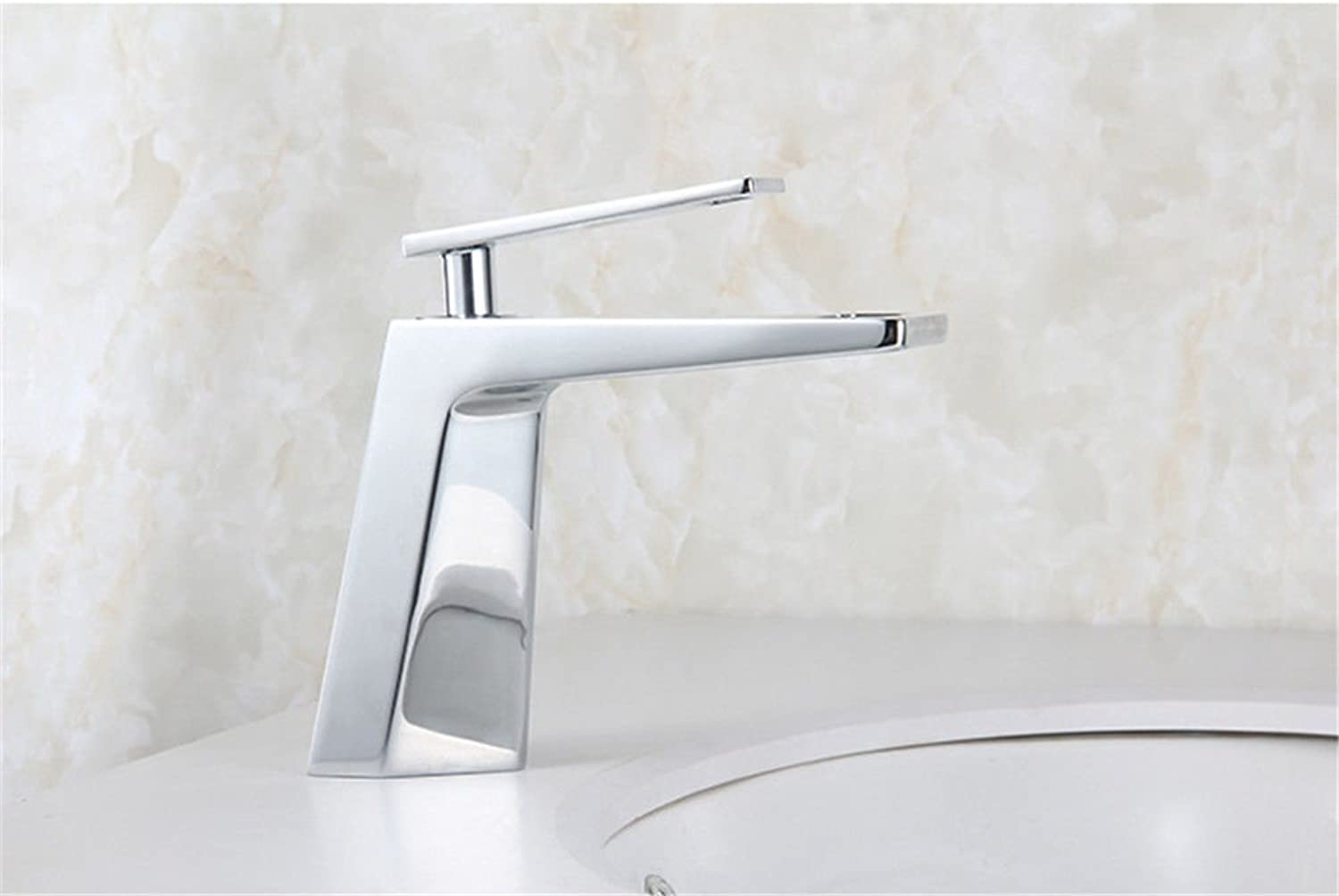 BDYJY ※ Bathroom Sink Faucets Hot & Cold Copper Single Lever Kitchen Sink Faucet Kitchen Faucets Kitchen Faucets