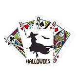 Witches Ride Broomsticks Bat Halloween Poker Juego de cartas mágicas divertido juego de mesa
