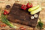 MTM WOOD Tablas de Cortar Cocina de Madera Nogal Marrón Oscuro, Tablas de Picar de Tamaño Diferente y de Espesor 3 y 4 cm, Ideal para Cortar Carne Verdura Pescado Pan (30 x 20 x 3 cm)