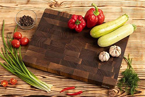 Taglieri da Cucina in Legno di Noce Marrone Scuro, MTM WOOD, Taglieri di diverse dimensioni e spessore 3 e 4 cm, ideali per tagliare carne, verdure, pesce, pane (30 x 20 x 3 cm)