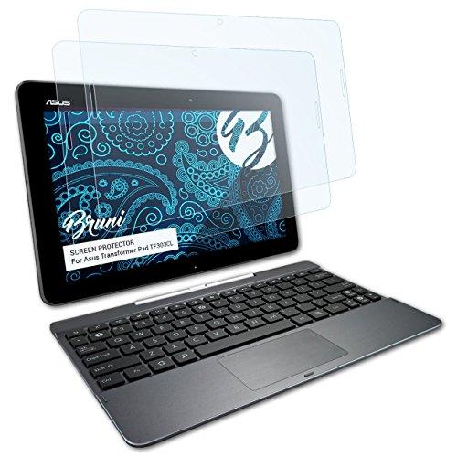 Bruni Schutzfolie kompatibel mit Asus Transformer Pad TF303CL Folie, glasklare Bildschirmschutzfolie (2X)
