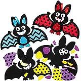 Baker Ross AW189 Halloween Fledermaus Dekoration Bastelset für Kinder - 8 Stück, Kreative Künstler- und Bastelbedarf für Kinder zum Dekorieren zur Winterzeit