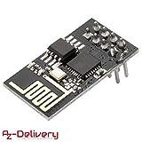 AZDelivery ESP8266 ESP-01S Módulo Wi-Fi/WiFi para Arduino y Raspberry Pi con eBook incluido