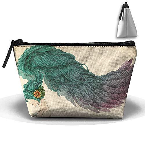 Trousse de toilette de voyage à longues plumes pour fille
