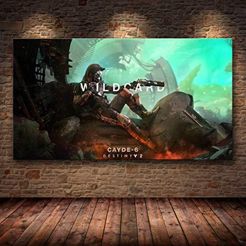 Preisvergleich Produktbild xmydeshoop Destiny 2 Videospiel Wandkunst Leinwand Poster Hd-Bilddrucke Für Wohnzimmer Home Decoration 50X70Cm Xz-3246