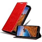 Cadorabo Hülle für Xiaomi RedMi 7A in Apfel ROT - Handyhülle mit Magnetverschluss, Standfunktion & Kartenfach - Hülle Cover Schutzhülle Etui Tasche Book Klapp Style