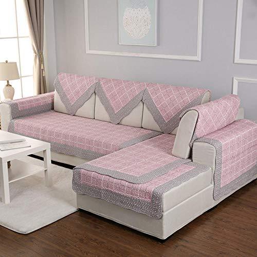 Hybad Country Style - Funda de sofá seccional con forma de L, funda de sofá para dormitorio, sofá de algodón, funda de toalla de sofá, B, 50*50cm Pillowcase