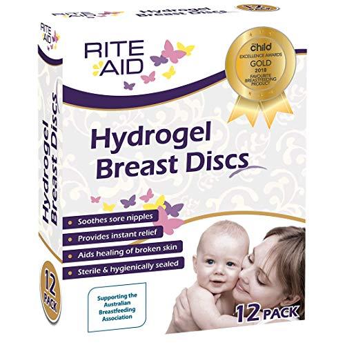 Rite Aid Lot de 12 disques d'allaitement hydrogel pour soulager les mamelons craquelés