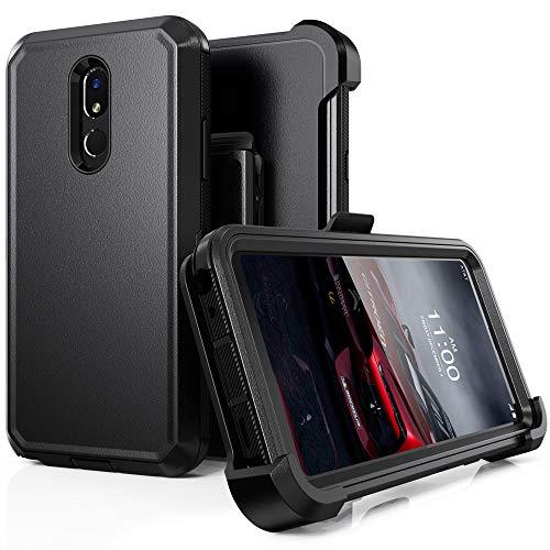 Schutzhülle für LG Stylo 5, LG Stylo 5 Plus, LG Stylo 5 V, robust, stoßfest, mit Gürtelclip und Ständer für LG Stylo 5 (schwarz)