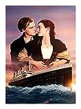 Puzzle Titanic Poster Poster My Heart Will Go On 300/500/1000 Pezzo -Ogni Pezzo è Unico, Pezzi Si incastrano Perfettamente (Size : 500pcs )