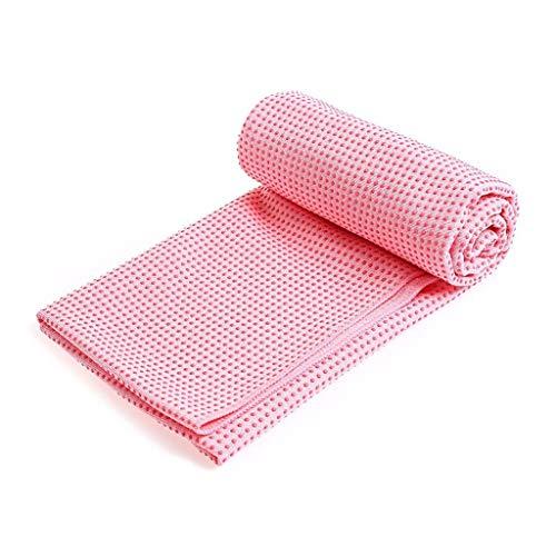 Momoxi Yogamatte rutschfestes Handtuch Yogadecke Yogamatte Handtuch 183X63cm gerader Punkt rosa 2020 Fitness Für Zuhause, Gesund Heimtrainer Fahrrad rutsche Garten spielturm Kinder