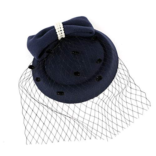2DXuixsh Women Tea Party Hair Clip Wedding Hat Headband Mesh Feath   ers Tea Party Hair Clip Flower Ribbons Feathers on a Head ties