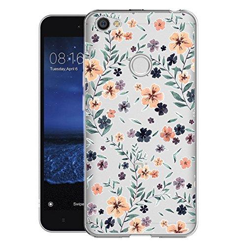 Caler Funda Xiaomi Redmi Note 5A Case, Suave TPU Gel Silicona Ultra-Delgado Ligera Anti-rasguños Carcasa Imagen imaginativa Protección (Flores Silvestres)