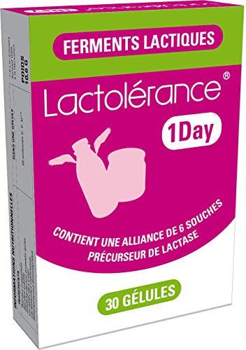 Lactolérance 1Day - Précurseur de Lactase - 30 gélules