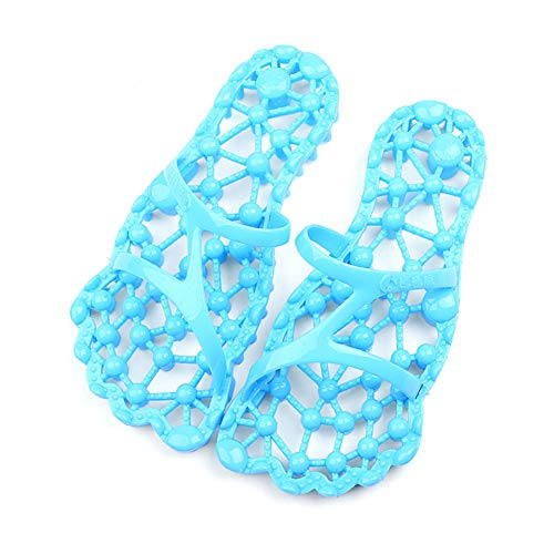 Reflexologie massage sandalen, antibacterieel, antislip, Tai Chi, acupressuur-pantoffels, massage van de voeten, M, Lichtblauw
