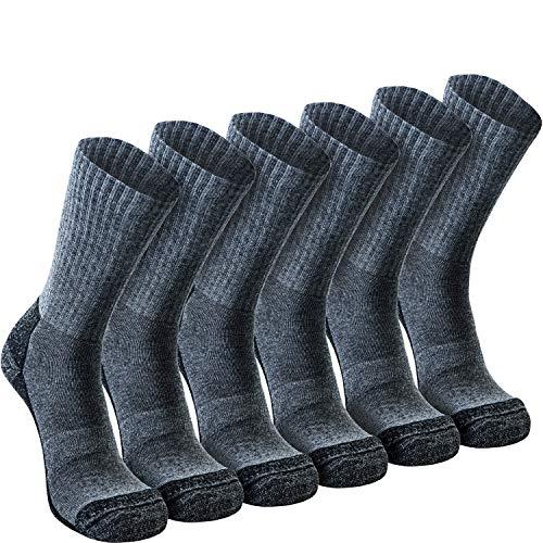 Nordhorn 6 paar Arbeitssocken Herren - Robuste Baumwolle Berufssocken - Atmungsaktive Freizeit Socken (44-46, Grau 09)
