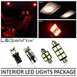 LEDpartsNow Interior LED Lights Replacement for 2003-2007 Infiniti G35 Coupe Accessories Package Kit (7 Bulbs), RED