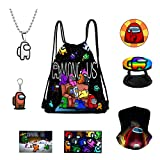 Amo-ng Set,Drawing Bag+Necklace+Cards Stickers+Stickers+Brooch+Keychain+Phone Holder…