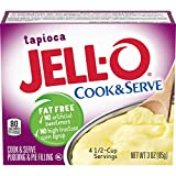 Jell-O Cook & Serve Tapioca Fat Free Pudding (3 oz Boxes, Pack of 24)
