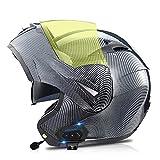 Hammock Bluetooth Casco Moto,Modular Casco Moto ECE Homologado,Doble Visera Casco Moto...