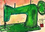 AnneSvea Nähen Postkarten 2 Stück A6 Aquarell Druck