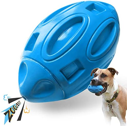 EASTBLUE Squeaky Dog Toys for Aggressive Chewers Rubber Puppy Chew Ball with Squeaker Almost product image
