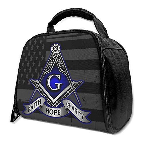 li Faith Hope Charity Freimaurer Freimaurer Isolierte Tasche Lunch Bag Isolierte Lunch Box Einkaufstasche Kühltasche Für Picknick-Arbeit