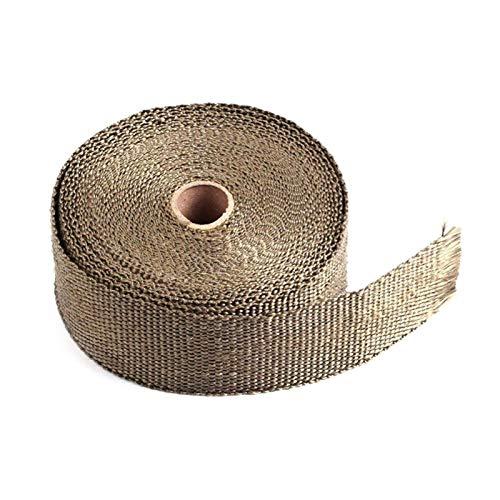 Cinta Anti-CalóRica,Exhaust Heat Wrap 5M Rollo de fibra de vidrio escudo de calor de la motocicleta del escape del escape del escape de la caja de la envoltura de calor protección térmica 4 corbatas k