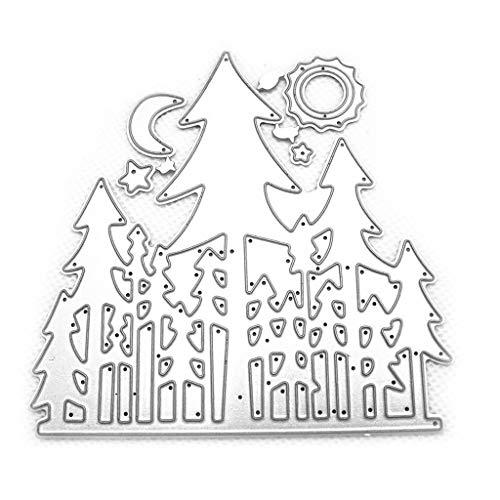 Rongzou Cutting Dies Stencil - Maan Ster Boom Metaal voor Card Maken Decoratieve Embossing Papier Kaarten Stempel DIY