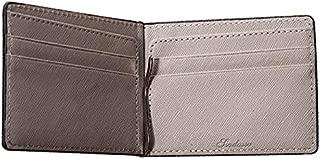 Mens Leather Bag Multi-Credit Card Holder Double Fold Short Wallet Men's Minimalist Design Business Slim Pu Leather Wallet Male Metal Clip Bag (Color : Gray, Size : S)