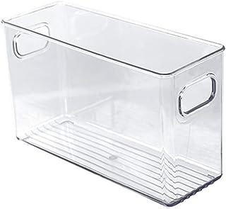 LOVIVER Bac de Rangement des Aliments Bac Rangement frigo pour Congélateur, Cuisine, Comptoirs, armoires-Clair en Plastiqu...