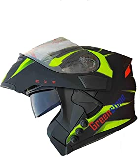 Green Stone G6 Flip-Up Smart Dual Bluetooth Helmet With Brake/Indicator Light & Voice Assistance Function Large 600mm
