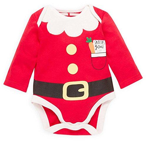 kingko® Mode pour enfants tout-petits bébés de Noël Filles Garçons Romper Tenues Vêtements adaptés pour les 0-2 ans bébé (24M)