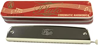 Pluto Tower Harmonica (Steel and White, Key of C)