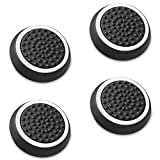 Fosmon (Set of 4) Analog Stick Joystick Controller Performance Thumb Grips Compatible with PS5, PS4, Xbox One, Xbox Series X/S (Black/White)
