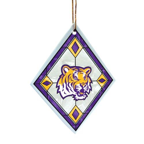 NCAA LSU Fightin Tigers Art Glass Ornament