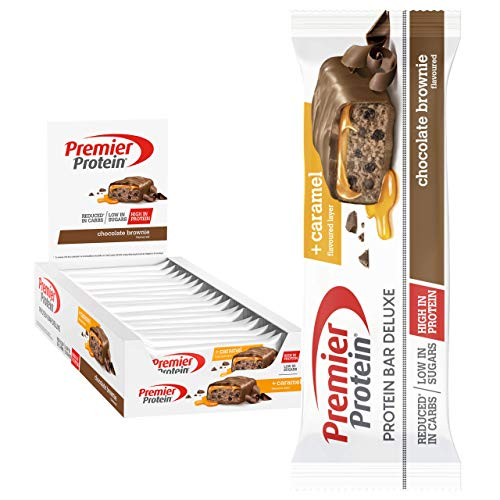 Premier Protein Bar Deluxe Chocolate Brownie 18x50g - High Protein Low Sugar + Kohlenhydratreduziert