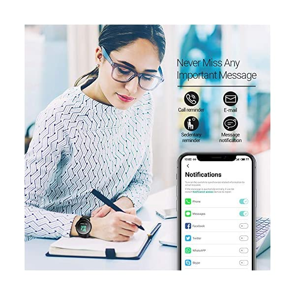 NACATIN SmartWatch, Reloj Inteligente Impermeable IP68, Bluetooth Relojes Deportivos Pantalla t¨¢ctil Completa, Pulsera… 8