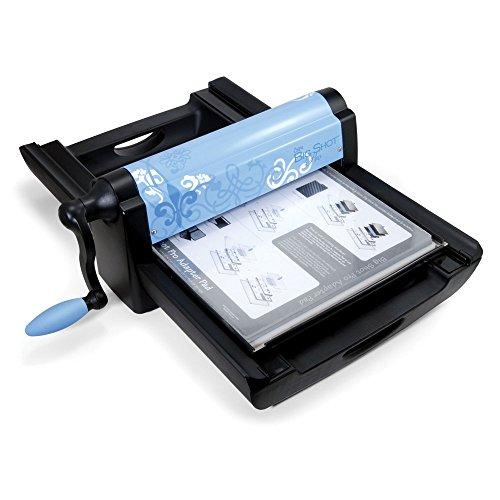 Sizzix Big Shot Pro Maschine nur Periwinkle mit Standard Zubehör, Set 1, blau und schwarz