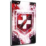 Kribee Call of Duty Poster Zombies Impresión en Lienzo y Arte de Pared, diseño Moderno, para decoración de Dormitorio Familiar 12×18inch(30×45cm) Unframe-Style-1