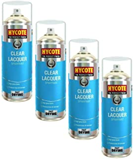 Hycote XUK0232 Clear Lacquer Spray Paint 400ml X 4