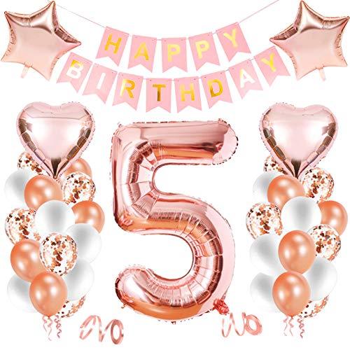 Luftballon 5. geburtstag,Happy Birthday Dekoration Zahl,kunterbunte Luftballons Metallic,Kunterbunte Luftballons,Nummerndekoration,Riesen Folienballon,Happy Birthday Dekoration