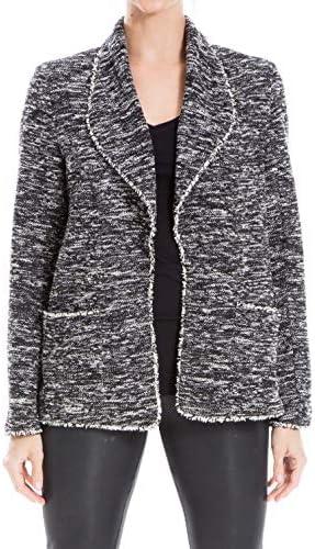 Max Studio Women's Shawl Collar Tweed Jacket