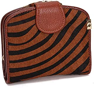 Leather Women's Wallet Long Horsehair Leather Women's Wallet Clutch Wallet Women's Fashion Hand Wallet Waterproof (Color : Brown-a, Size : S)