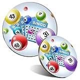 Juego de alfombrilla de ratón y posavasos, juego de bingo, gran tía, 20 cm y 9 cm, para ordenador y portátil, oficina, regalo, base antideslizante #2124