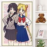 Japanischer Anime Sailor Moon Ölgemälde Poster drucken