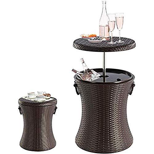 Moderne Meubles en rotin Cool Bar en rotin Style extérieur Patio Cooler Tabler, Brown