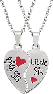 Big and Little Sister Friendship Necklace Set of 2 Pcs - Best Friend Gift Necklace